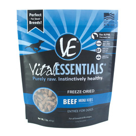Vital Essentials Beef Mini Nibs Freeze-Dried Dog Food