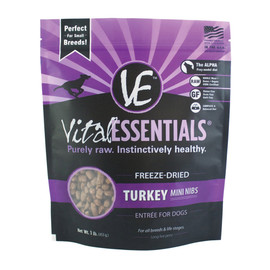 Vital Essentials Turkey Mini Nibs Freeze-Dried Dog Food
