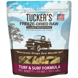 Tucker's Freeze-Dried Raw Turf & Surf Formula Dog Food