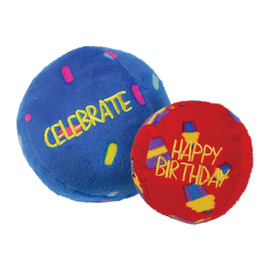 Kong Occasions Birthday Balls Plush Dog Toy