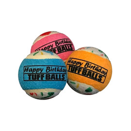 Petsport Happy Birthday Tuff Ball Dog Toy
