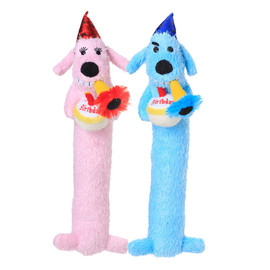 Multipet Loofa Dog Birthday Plush Dog Toy