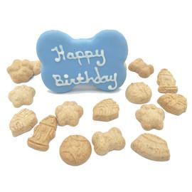 Claudia's Canine Happy Birthday Blue Box Gourmet Dog Treats