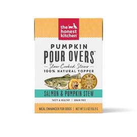 The Honest Kitchen Pumpkin Pour Overs Salmon & Pumpkin Stew Wet Dog Food Topper