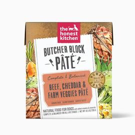 The Honest Kitchen Butcher Block Pate Beef, Cheddar & Farm Veggies Wet Dog Food