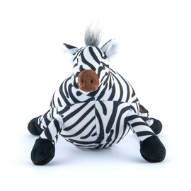P.L.A.Y. Safari Zara The Zebra Plush Squeaky Dog Toy
