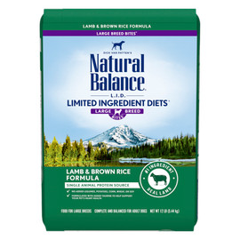 Natural Balance Limited Ingredient Diets Lamb & Brown Rice Large Breed Bites Formula Dry Dog Food