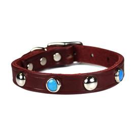 Omni Pet Southwest Style Latigo Leather Dog Collar
