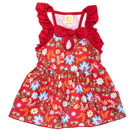 SimplyDog Floral Fiesta Ruffle Dog Dress