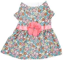 SimplyDog Floral Print Flower Dog Dress