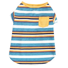 SimplyDog Narrow Stripe Print Pocket Dog T Shirt