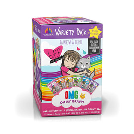 B.F.F. OMG! Rainbow A Gogo Variety Pack Wet Cat Food - Front