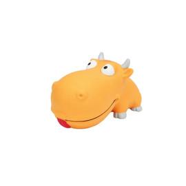 Rascals Latex Grunting Big Head Bull Dog Toy