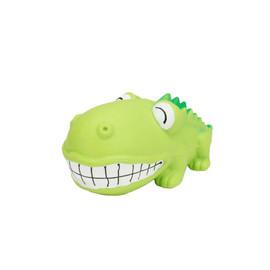 Rascals Latex Grunting Big Head Alligator Dog Toy