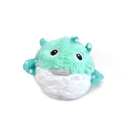 Patchwork Pet Prickles Puffer Fish Plush Dog Toy