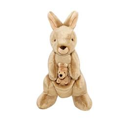 Fluff & Tuff Phoebe & Joey Kangaroo Plush Dog Toy