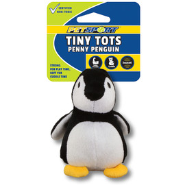 Tiny Tots Penny Penguin Plush Dog Toy