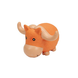 Rascals Latex Grunting Big Horn Bull Dog Toy