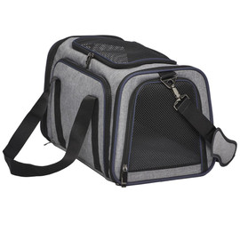 MidWest Duffy Expandable Gray Pet Carrier