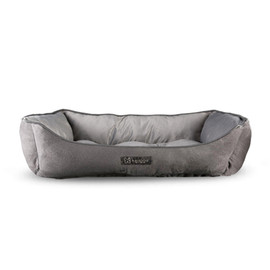 NanDog Light Grey Plush Pet Bed