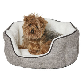MidWest QuietTime Deluxe Taupe Tulip Pet Bed