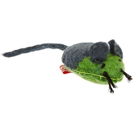 Wooly Fun! Stitched Mouse Cat Toy