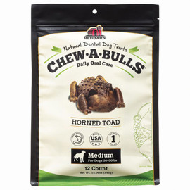 Redbarn Chew-A-Bulls Horned Toad Dog Dental Chews