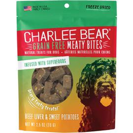 Charlee Bear Meaty Bites Beef Liver & Sweet Potato Freeze Dried Dog Treats