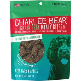 Charlee Bear Meaty Bites Beef Liver & Apple Freeze Dried Dog Treats