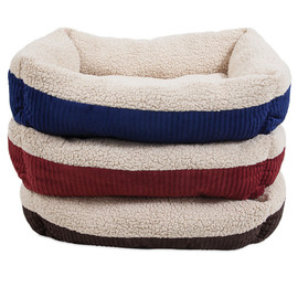 Aspen Pet Self-Warming Corduroy Cuddler Dog Bed, Assorted