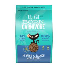 Tiki Cat Born Carnivore Herring & Salmon Dry Cat Food