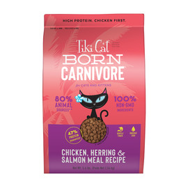 Tiki Cat Born Carnivore Chicken, Herring & Salmon Meal Dry Cat Food