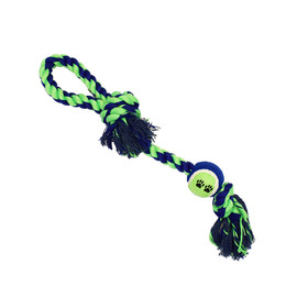Amazing Pet Products Knotted Tug Rope w/ Tennis Ball Dog Toy