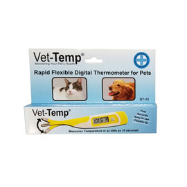 Vet-Temp Rapid Flexible Digital Rectal Pet Thermometer