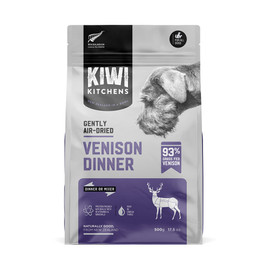 Kiwi Kitchens Gently Air-Dried Venison Dinner Dog Food - Front