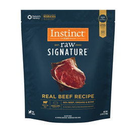 Instinct Raw Signature Frozen Medallions Real Beef Recipe Dog Food