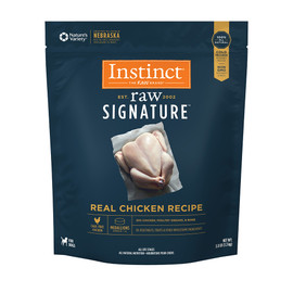 Instinct Raw Signature Frozen Medallions Real Chicken Recipe Dog Food