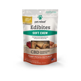 Pet Releaf Edibites Sweet Potato Pie Soft Chew Hemp Dog Supplements - Front