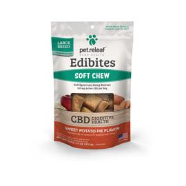 Pet Releaf Edibites Large Breed Sweet Potato Pie Soft Chew Hemp Dog Supplements