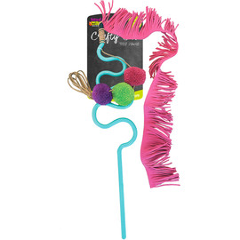 Mad Cat Frisky Fringe Wand Cat Toy