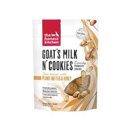 The Honest Kitchen Goat's Milk & Cookies Slow Baked w/ Peanut Butter & Honey Dog Treats -Front