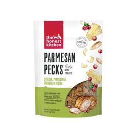 The Honest Kitchen Parmesan Pecks w/ Chicken, Parmesan & Cranberry Dog Treats -Front