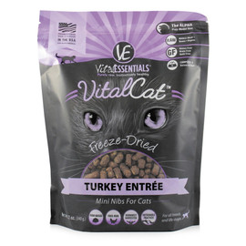 Vital Essentials Turkey Mini Nibs Freeze-Dried Cat Food - Front