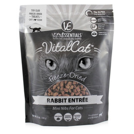 Vital Essentials Rabbit Mini Nibs Freeze-Dried Cat Food - Front