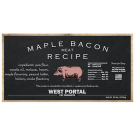 West Portal Natural Maple Bacon Dog Biscuits - Front