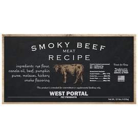 West Portal Natural Beef Dog Biscuits - Front