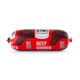 Kiwi Kitchens Frozen Cooked Beef Roll Dog Food - Front