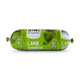 Kiwi Kitchens Frozen Cooked Lamb Roll Dog Food - Front
