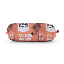 Kiwi Kitchens Frozen Cooked Salmon Roll Dog Food Topper - Front