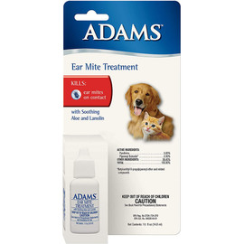 Adams Ear Mite Treatment for Cats & Dogs - Front
